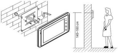 Высота установки домофона от пола